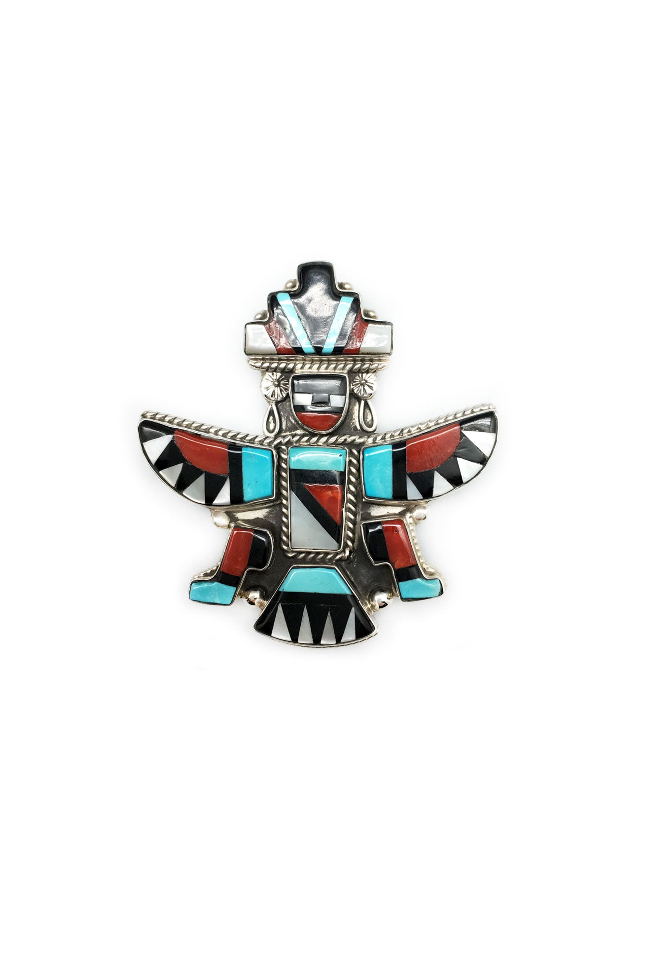 Pin & Pendant, Zuni Inlay, Knifewing, Vintage, 146