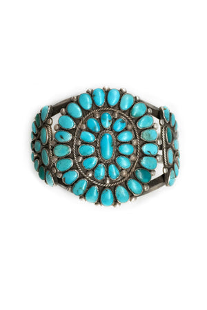 Cuff, Turquoise, Cluster, Vintage, 2128