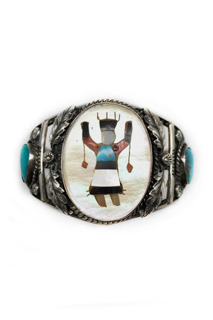 Cuff, Vintage, Zuni, Ceremonial Dancer