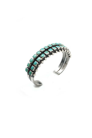 Cuff, Turquoise, Ray Betsoie, 2 Row Square, 2121