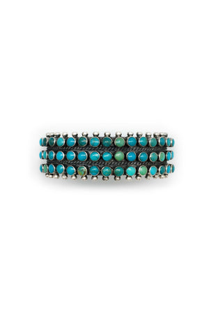 Cuff, Turquoise, Ray Betsoie, 3 Row Round, 2125