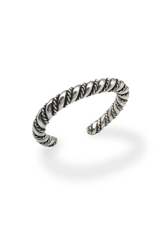 Cuff, Sterling, Heavy Twisted Wire