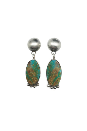 Earrings, Slab, Turquoise, Selina Warner, 314