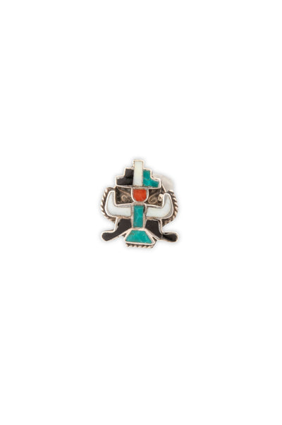 Pin, Zuni Inlay, Knifewing, Vintage
