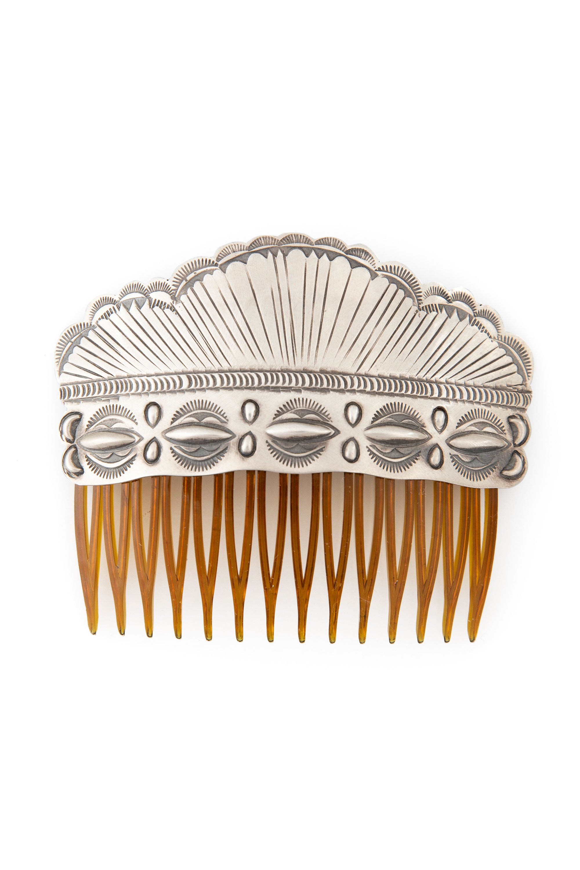 Miscellaneous, Sterling Silver, Repousse Hair Comb, 132