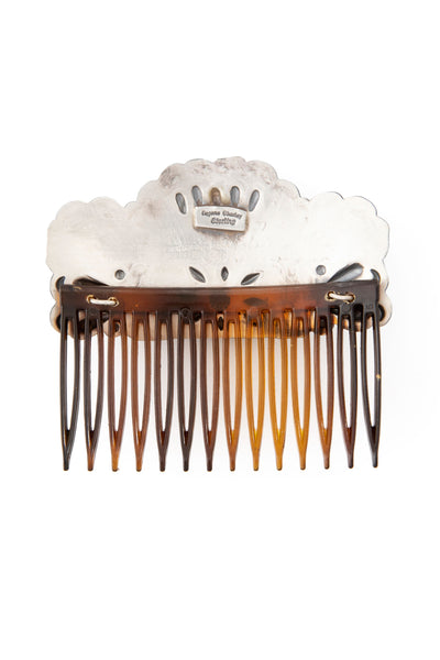 Miscellaneous, Sterling Silver, Repousse Hair Comb, 129
