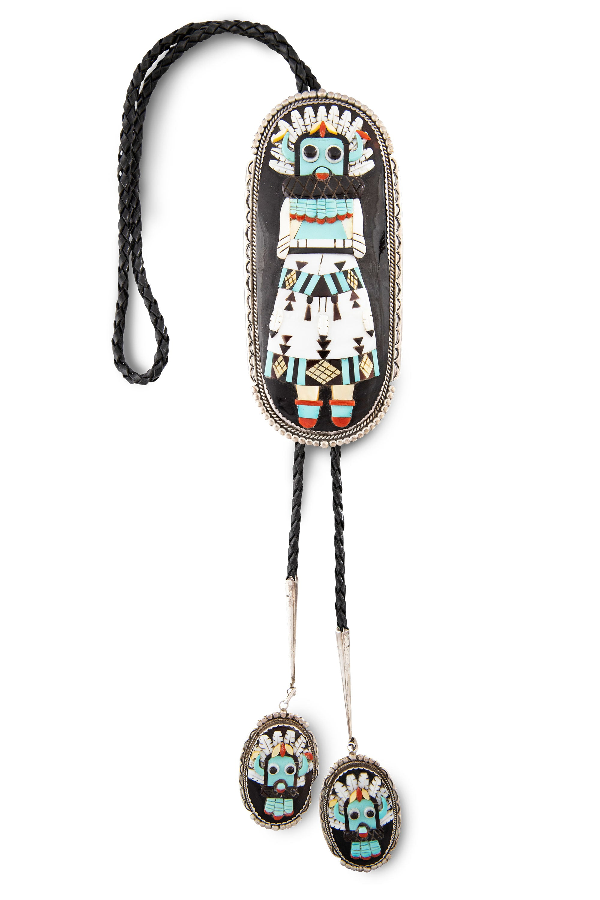 Bolo, Multi Stone, Inlay, Kachina, Vintage, 783