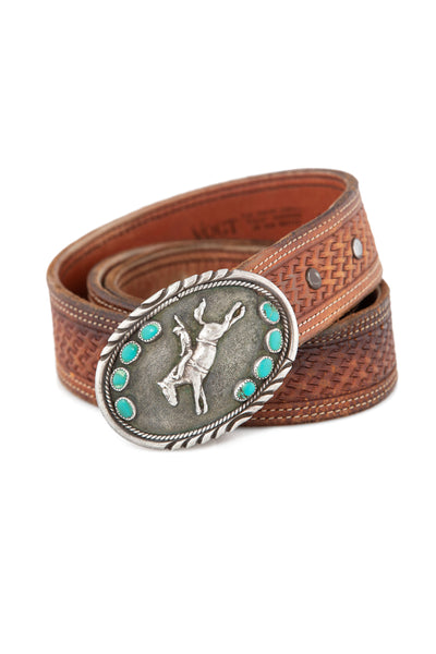 Belt, Buckle, Turquoise, Trophy, Vintage, 682