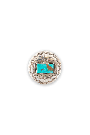 Pin, Turquoise, Stamped, Old Pawn, 293