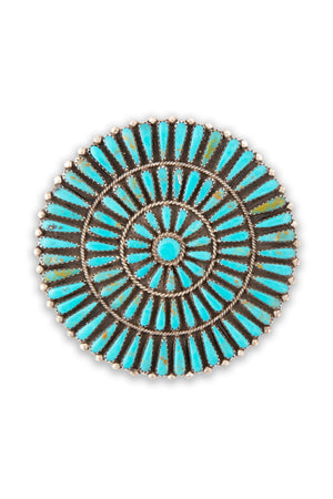 Pin, Turquoise, Cluster, Petit Point, Old Pawn, 287