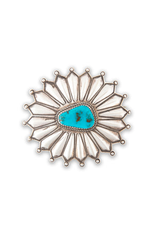 Pin, Turquoise, Oval, Starburst, Old Pawn, 296