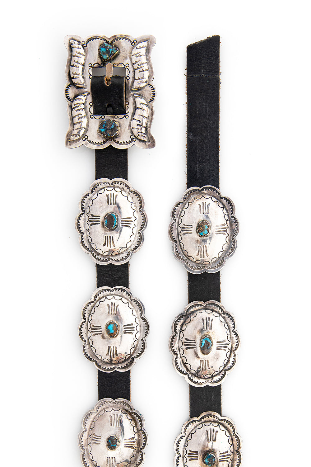 Belt, Concho, 3rd Phase, Turquoise, Revival, Vintage, 775