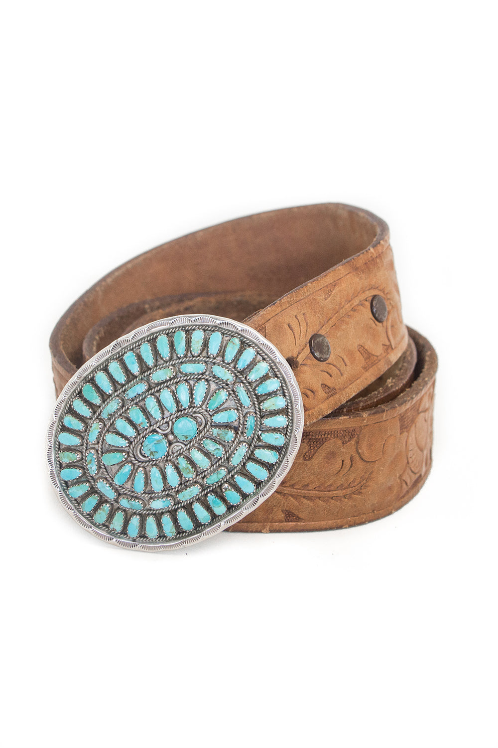 Belt, Concho, Cluster, Turquoise, Hallmark, Turquoise, 824