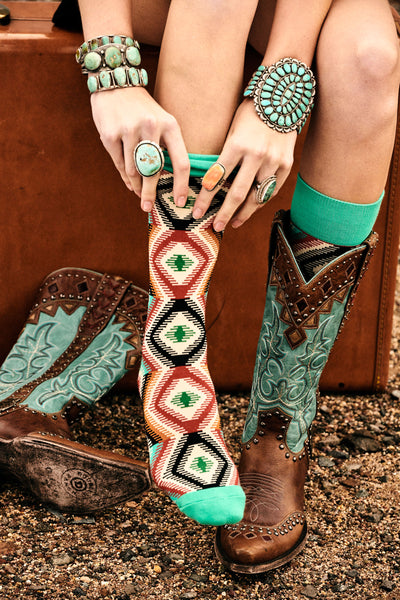 Socks, Twisted Western - 3 Pack