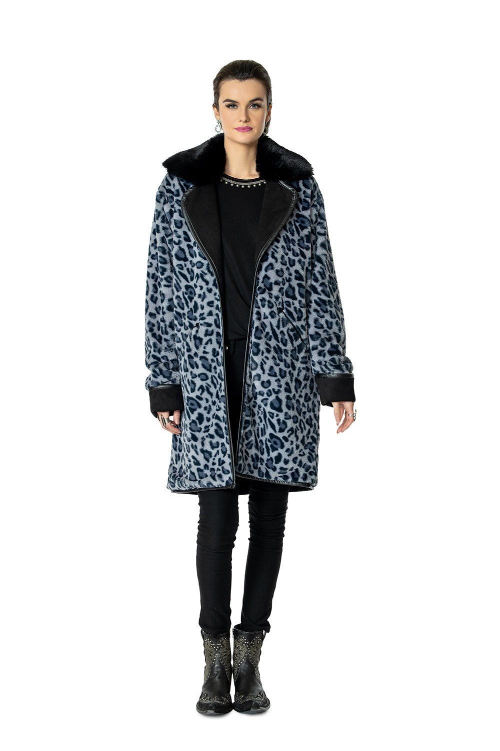 Cheetah Blue Jacket