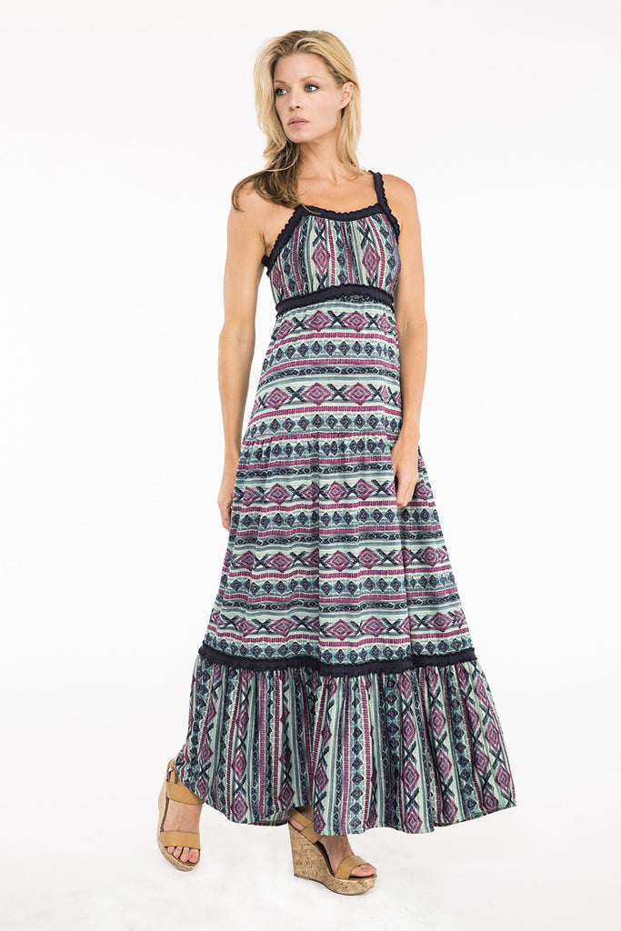 Butterfly Bleu Maxi Dress