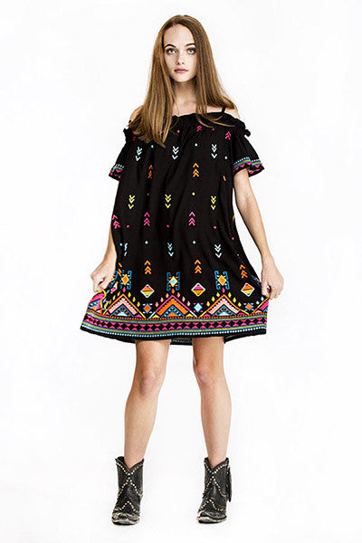 Rainbow Weaver Dress