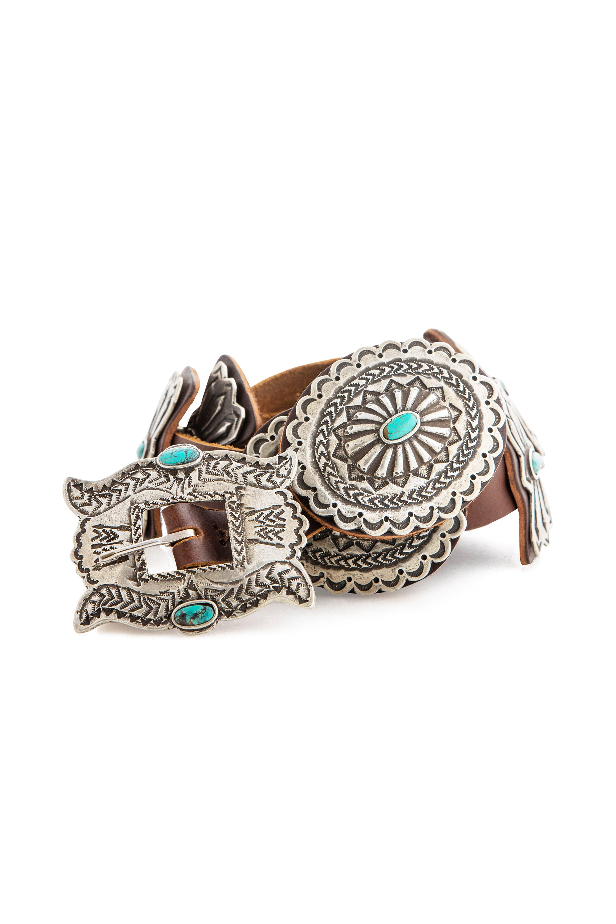 Belt, Concho, Turquoise, Reproduction, 785