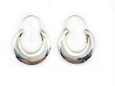 Earrings, Vintage Frederico Hoops