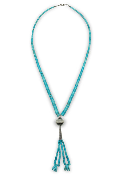 Necklace, Turquoise Heishi, Modified Jacla Style, Vintage