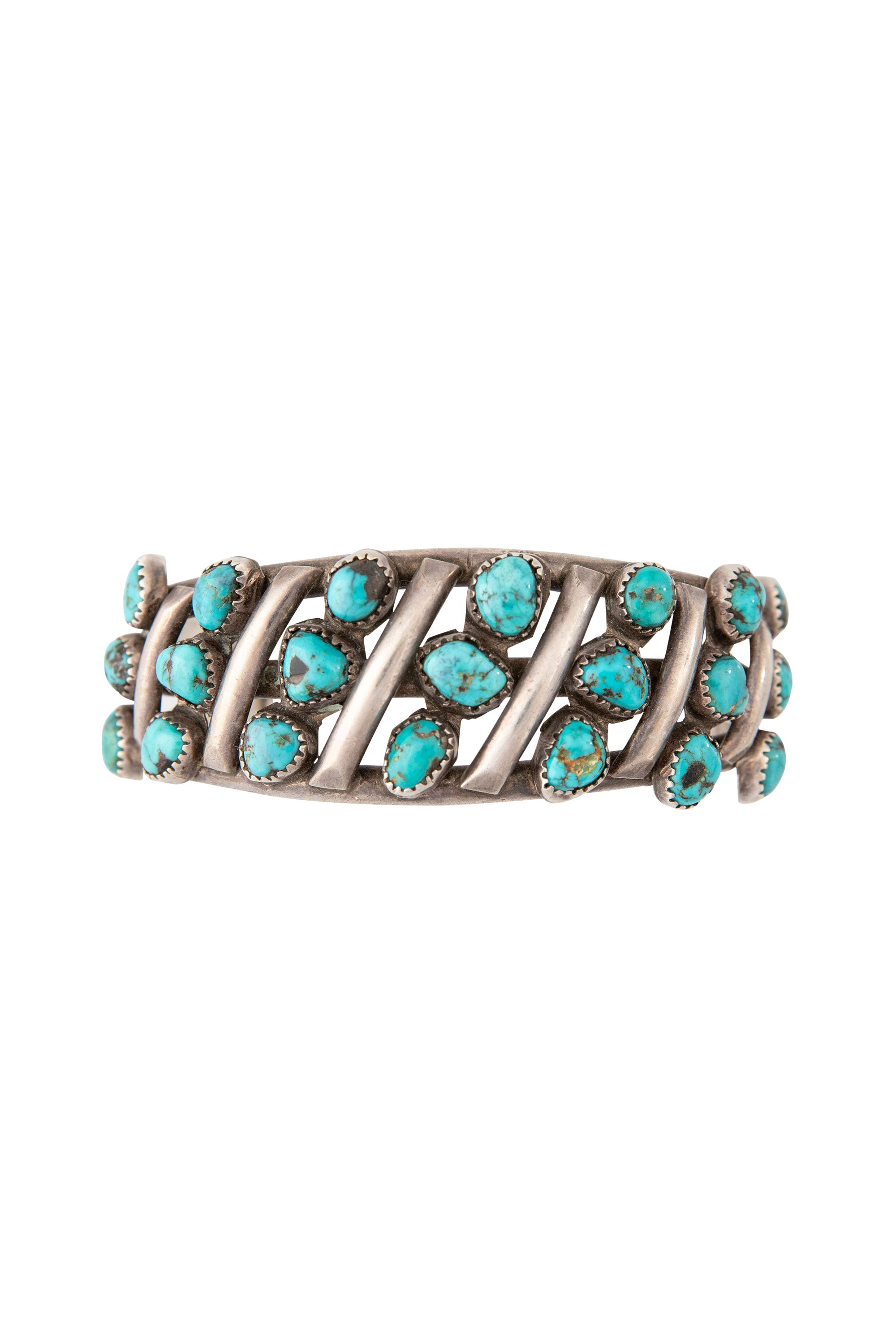 Cuff, Turquoise, 21 Stone, Old Pawn, 2368