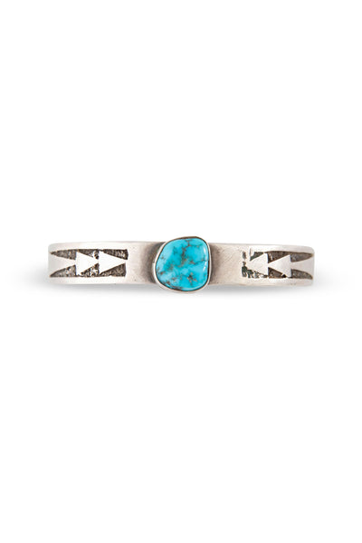 Cuff, Turquoise, Single Stone, Old Pawn, 2382