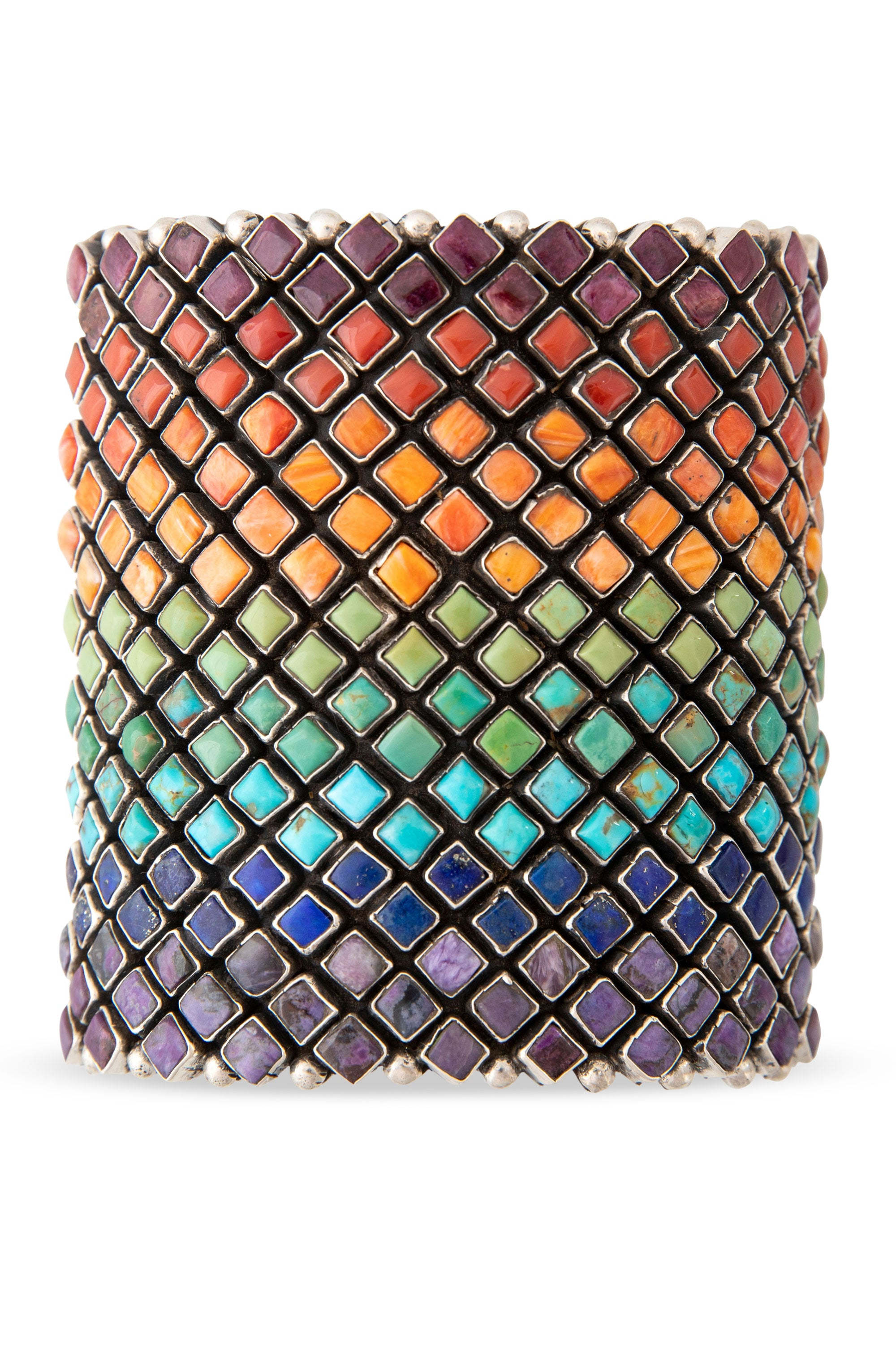 Cuff, Diamond Row, Multi Stone, Hallmark, 2392