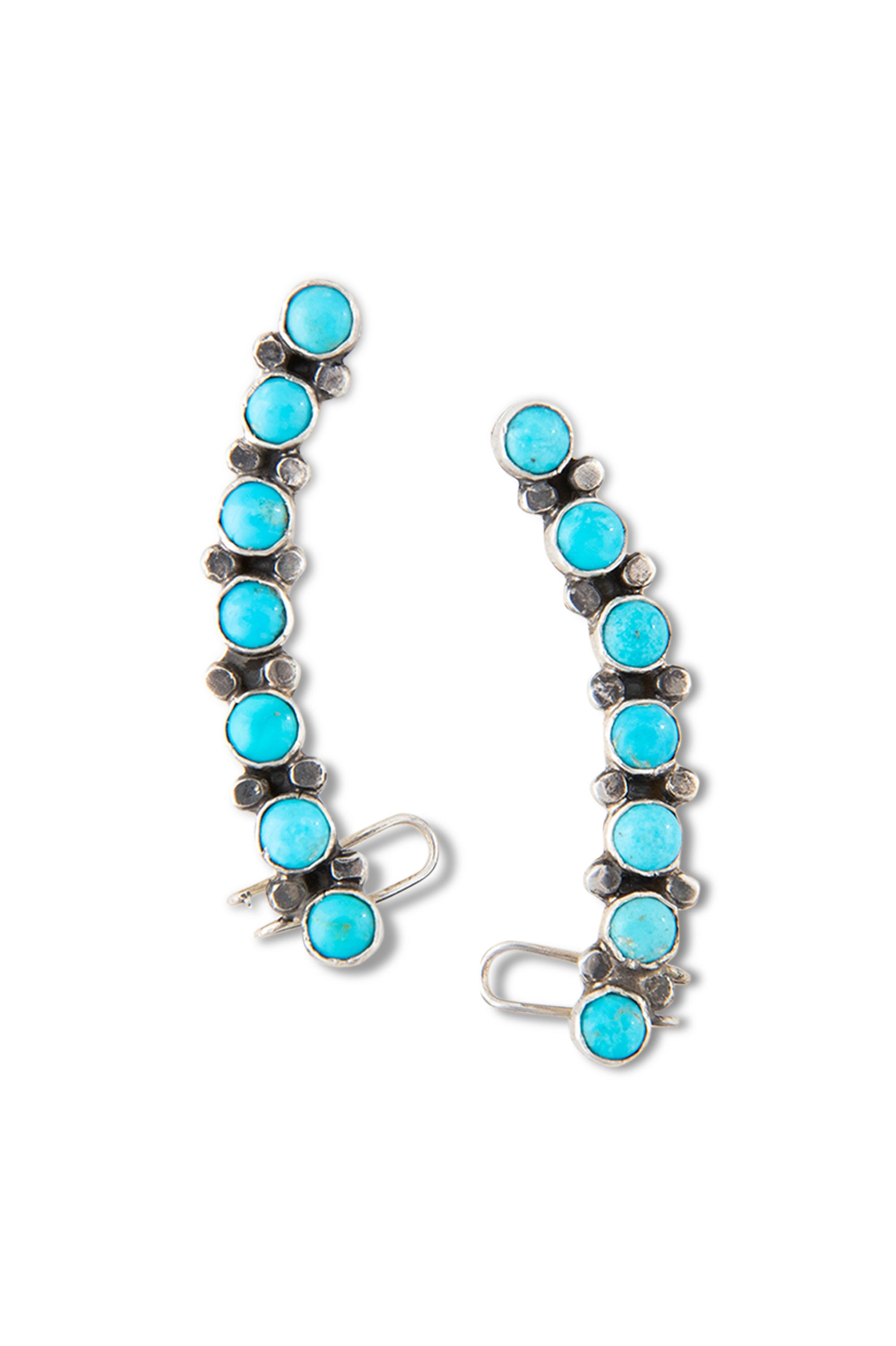 Earrings, Cuff, Turquoise, 403