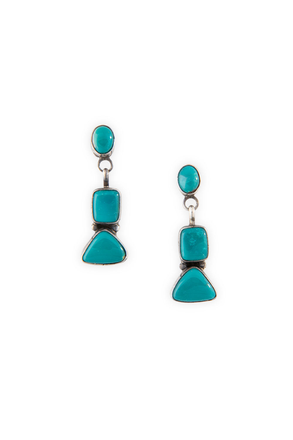 Earrings, Chandelier, Turquoise, 368