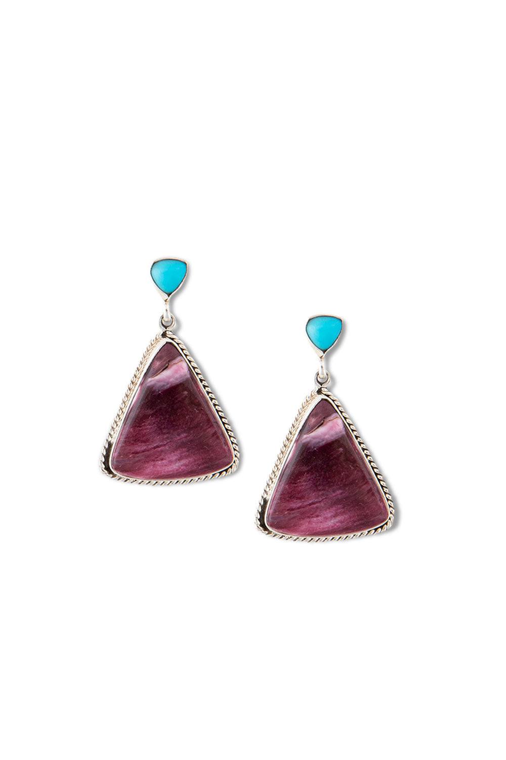 Earrings, Slab, Spiny Purple, Hallmark, 399