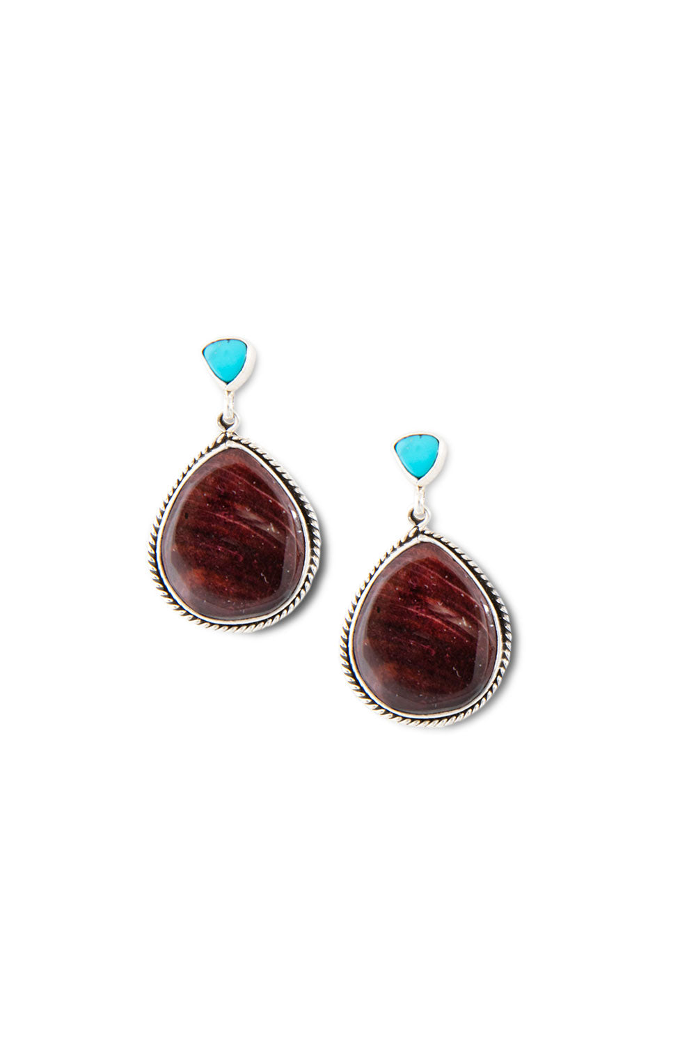 Earrings, Slab, Spiny Purple, Hallmark, 400