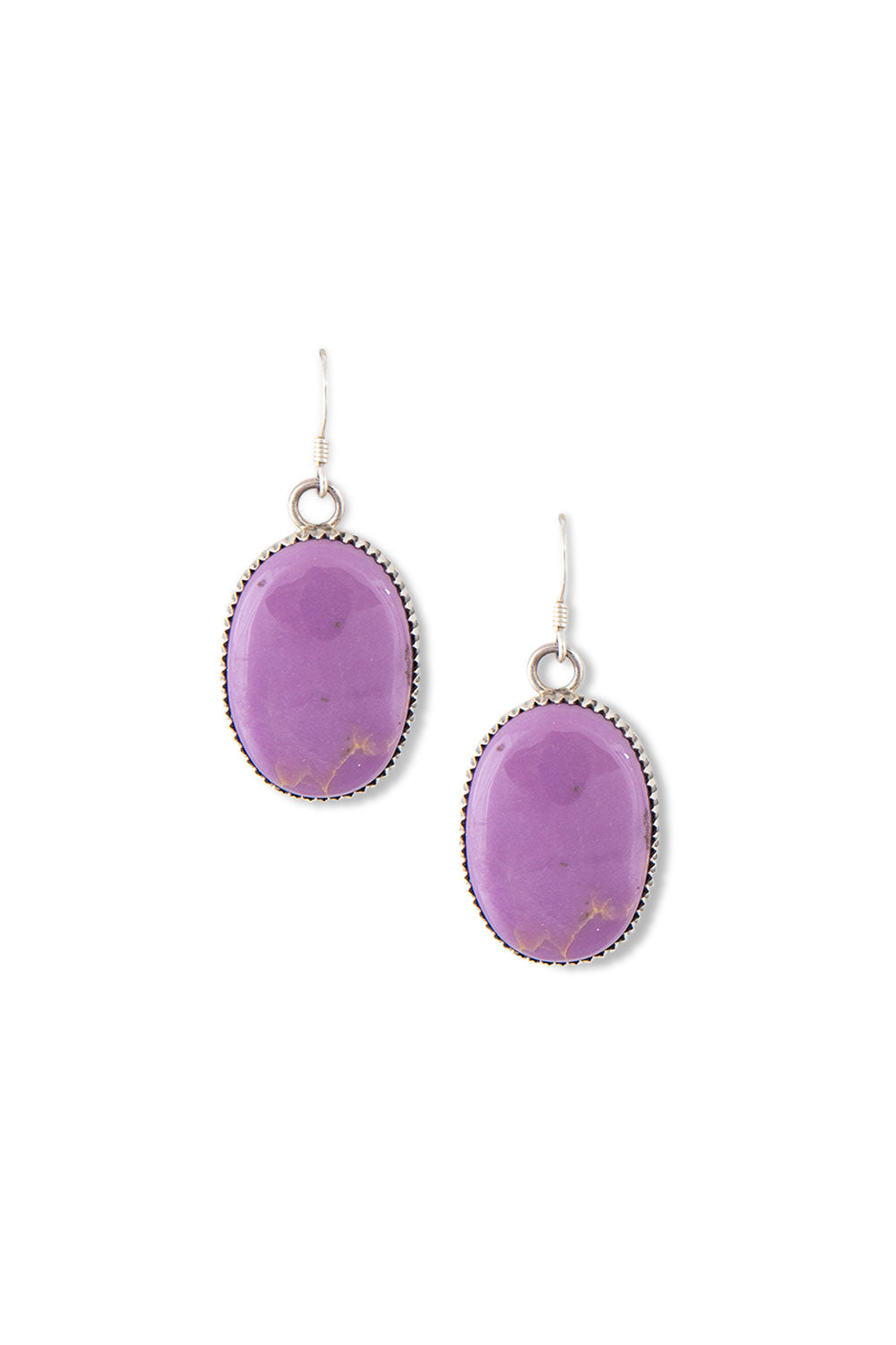 Earrings, Slab, Purple