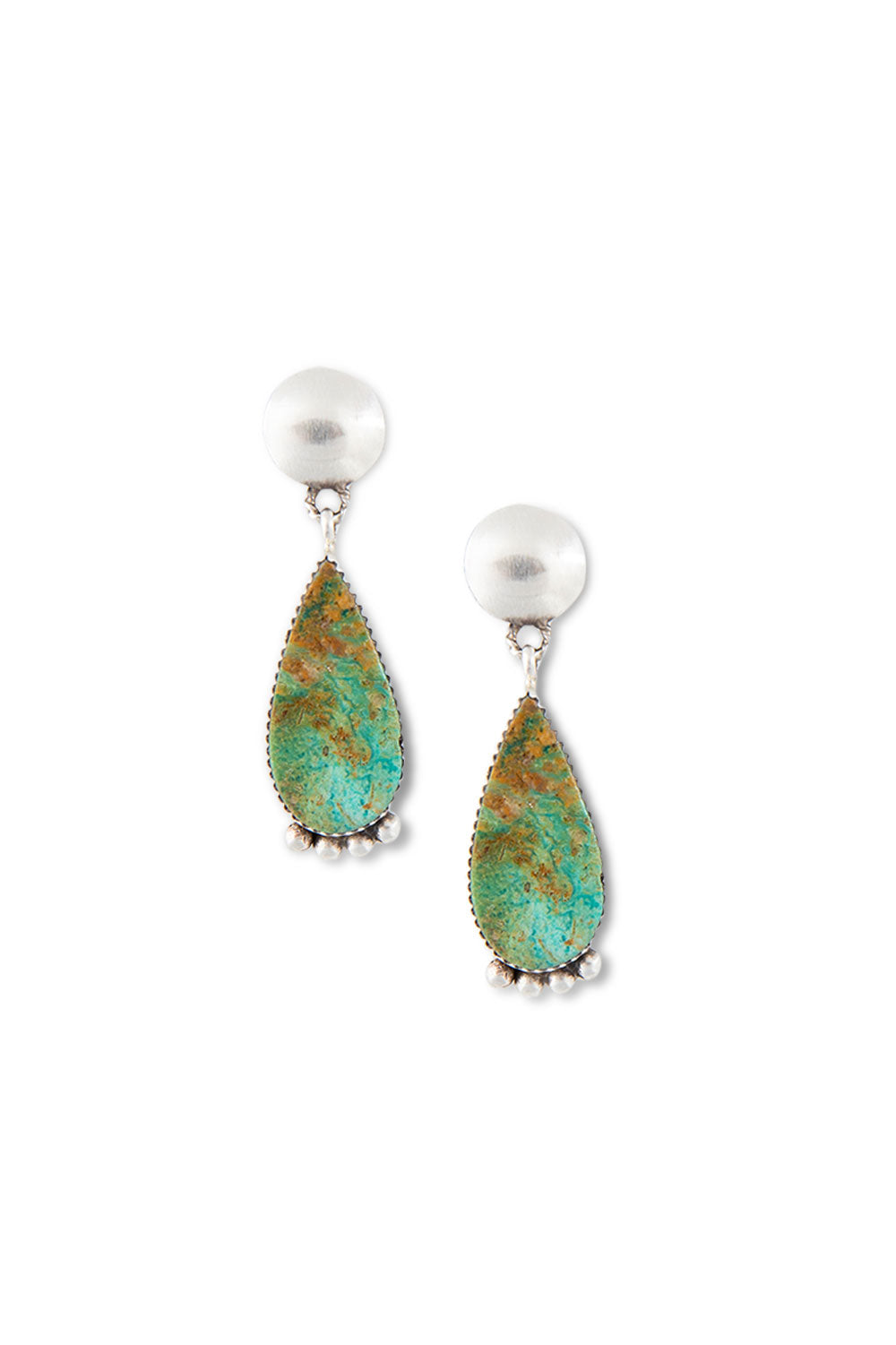 Earrings, Slab, Turquoise, Hallmark, 404