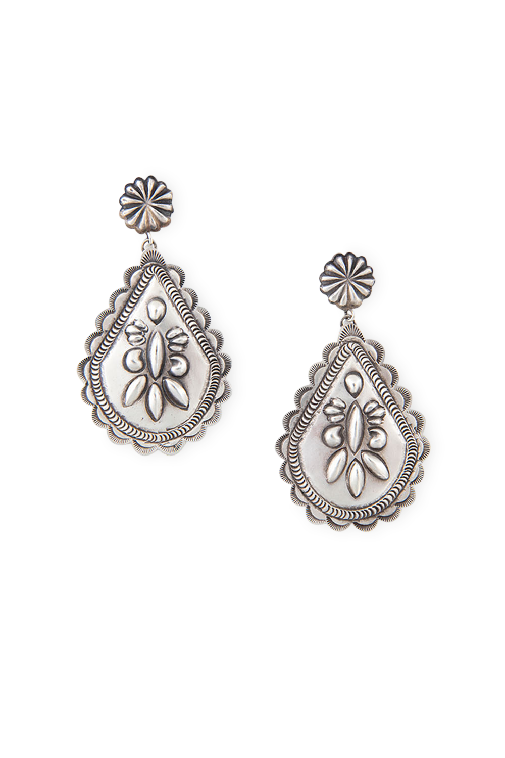 Earrings, Novelty, Navajo, Sterling Silver, 409