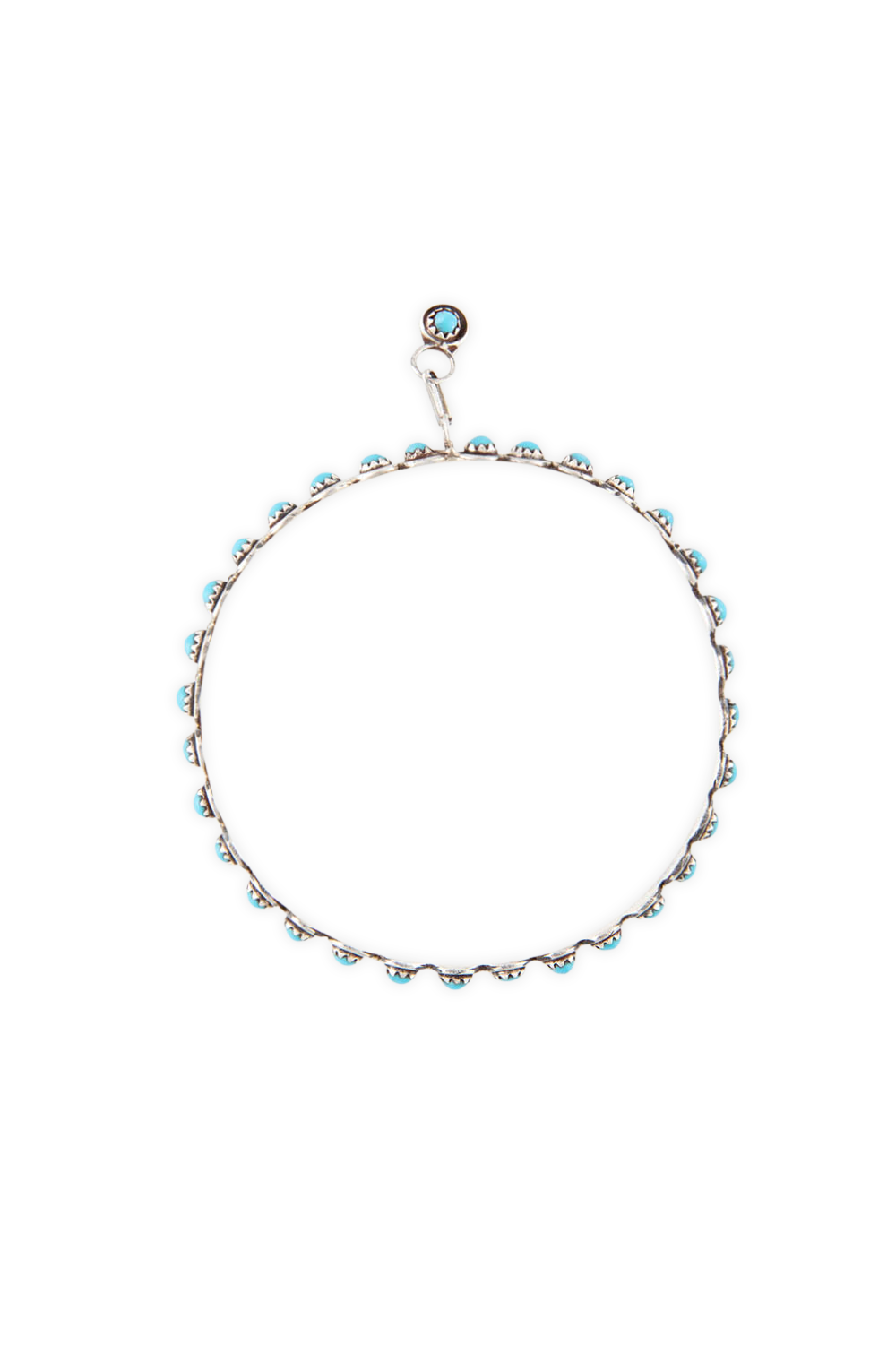 Earrings, Hoop, Turquoise, Zuni, 410