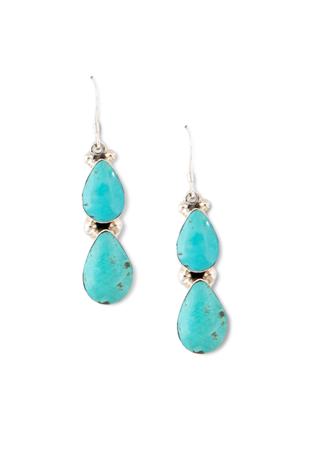 Earrings, Chandelier, Turquoise, 420