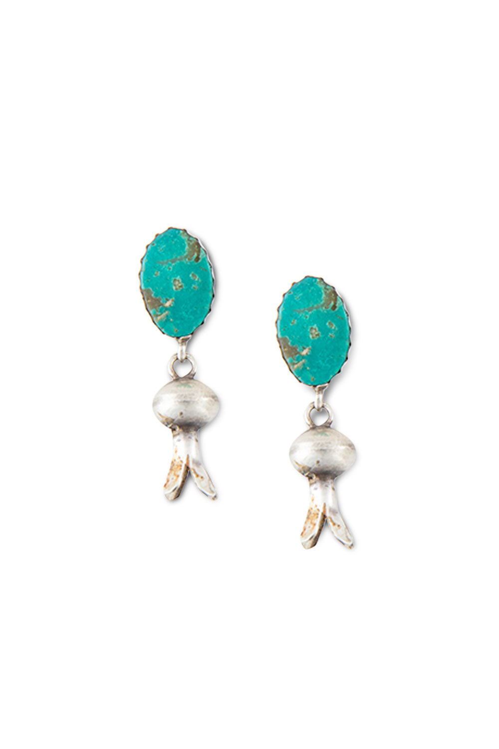 Earrings, Blossom, Turquoise, Hallmark, 425