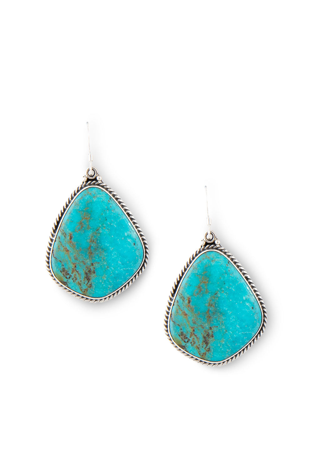 Earrings, Slab, Turquoise, Navajo, Hallmark, 431