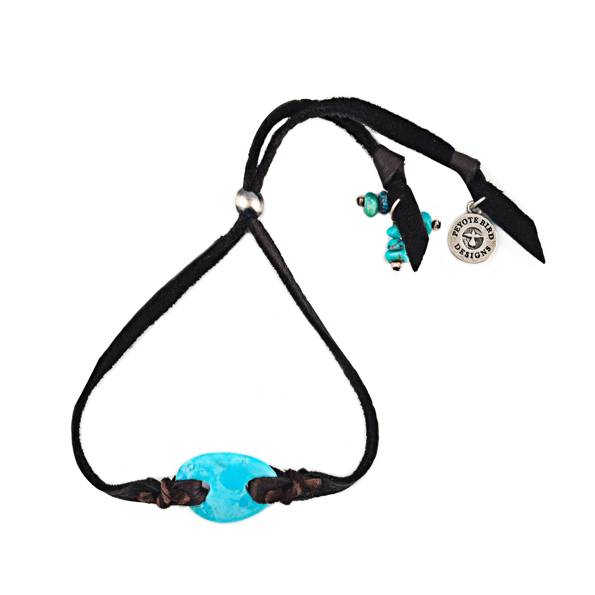 Bracelet, Novelty, Turquoise & Leather, Dustin's Girl