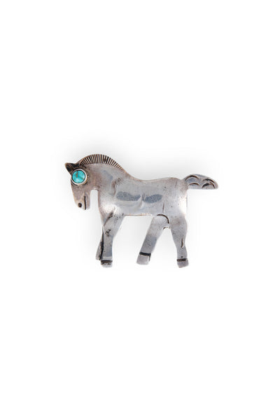 Pin, Novelty, Turquoise, Navajo Horse, Vintage, Estate