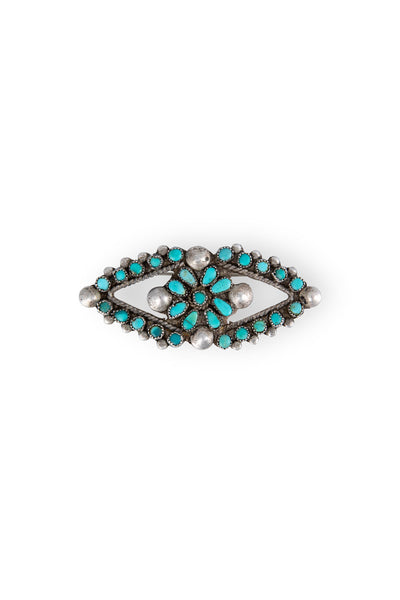 Pin, Turquoise, Cluster, Oval, Vintage, 329