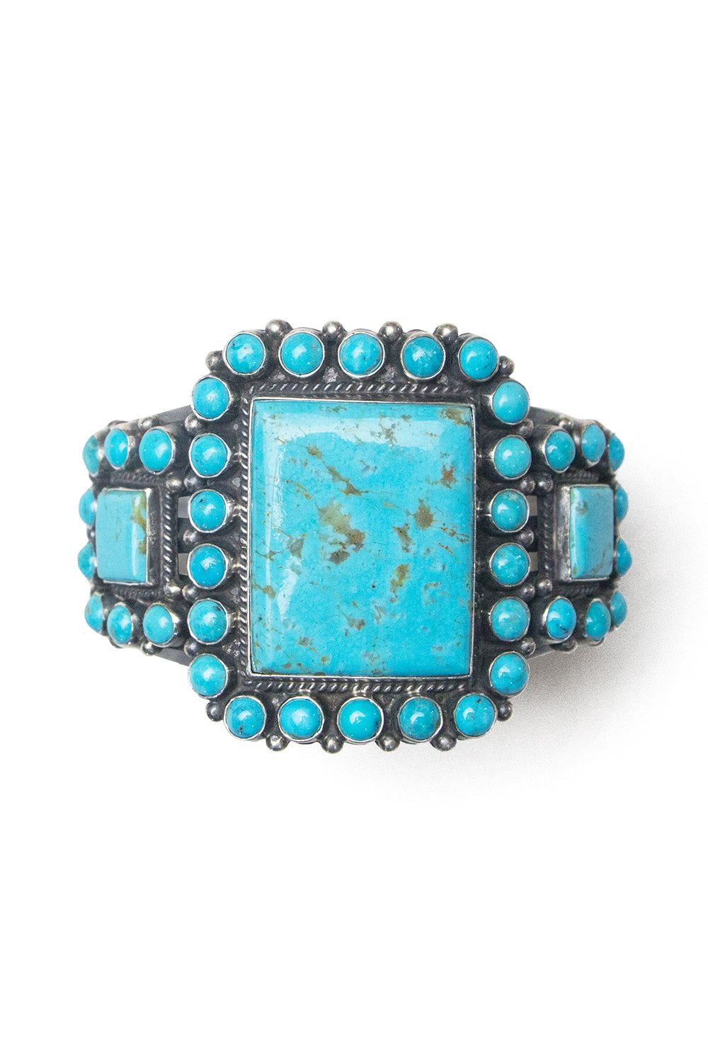 Cuff, Turquoise, Cluster, Cameo, Hallmark, 2539