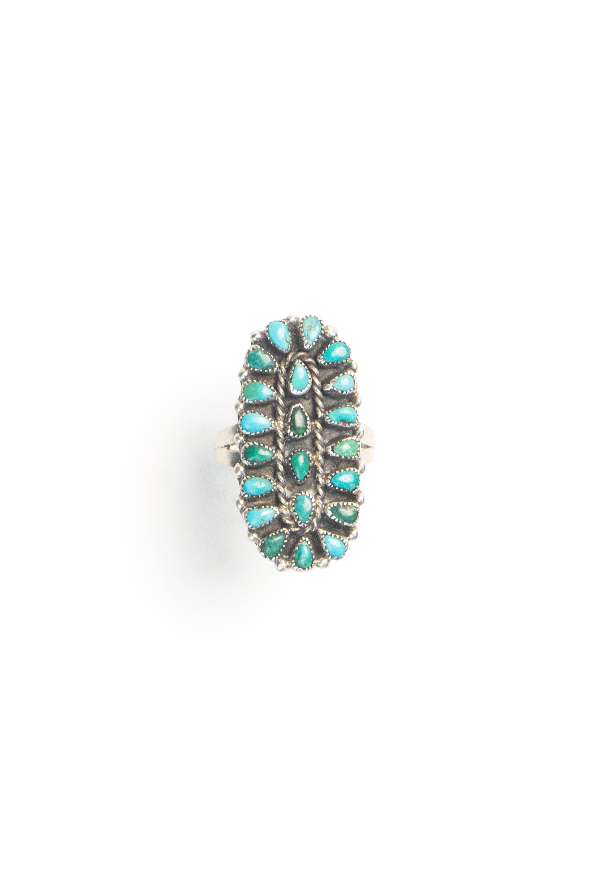 Ring, Cluster, Turquoise, Vintage, 545