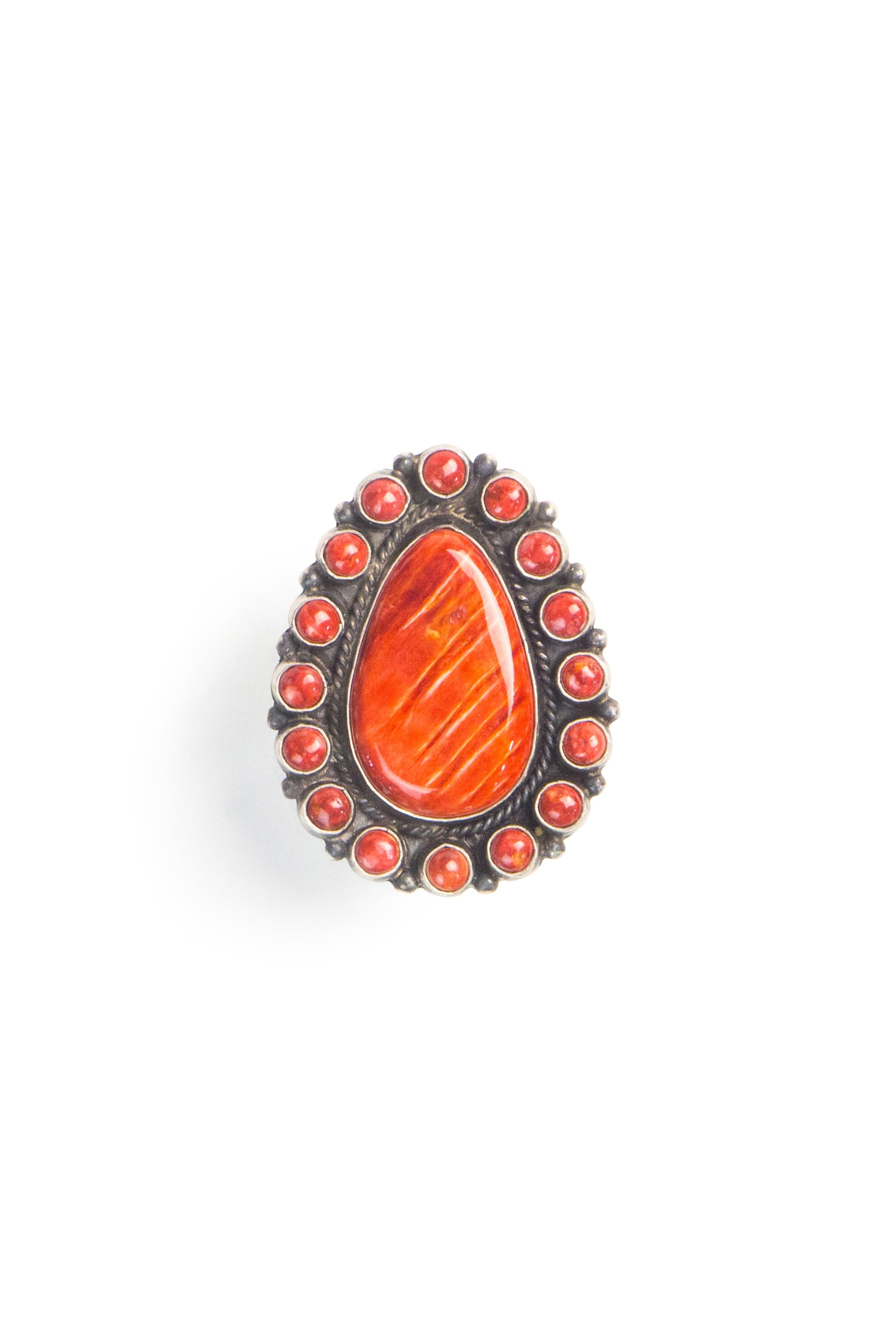 Ring, Cluster, Orange Spiny Oyster,Contemporary 569