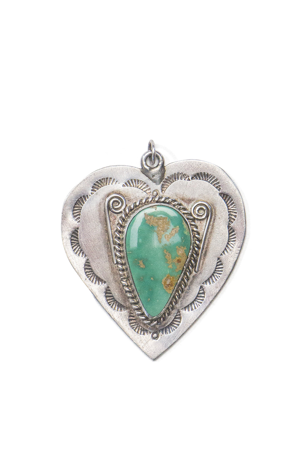 Charm, Heart, Turquoise, Vintage, 928