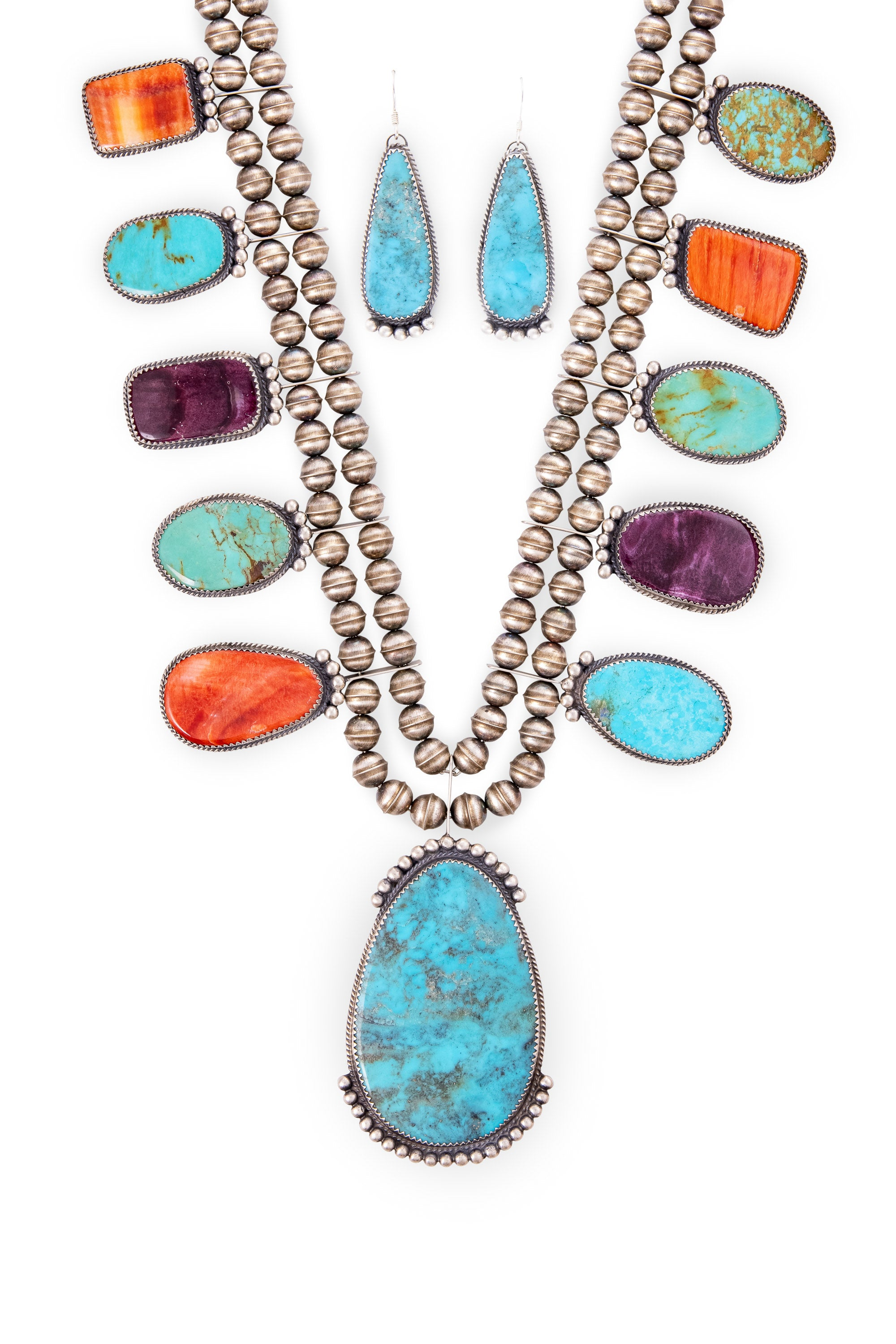 Necklace & Earring Set, Mixed Stones, Hallmark, 1119