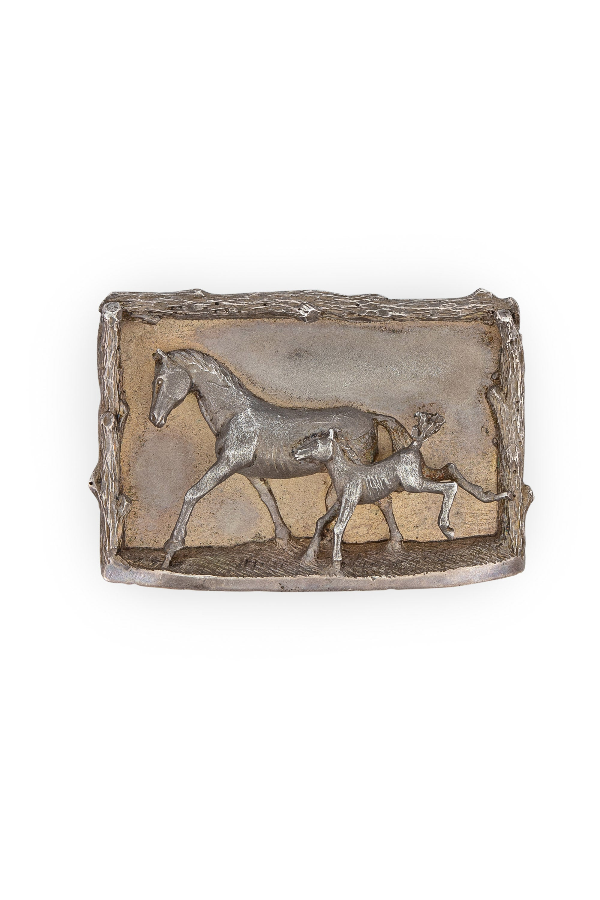 Belt, Buckle, Mare and Foal, Vintage, 129