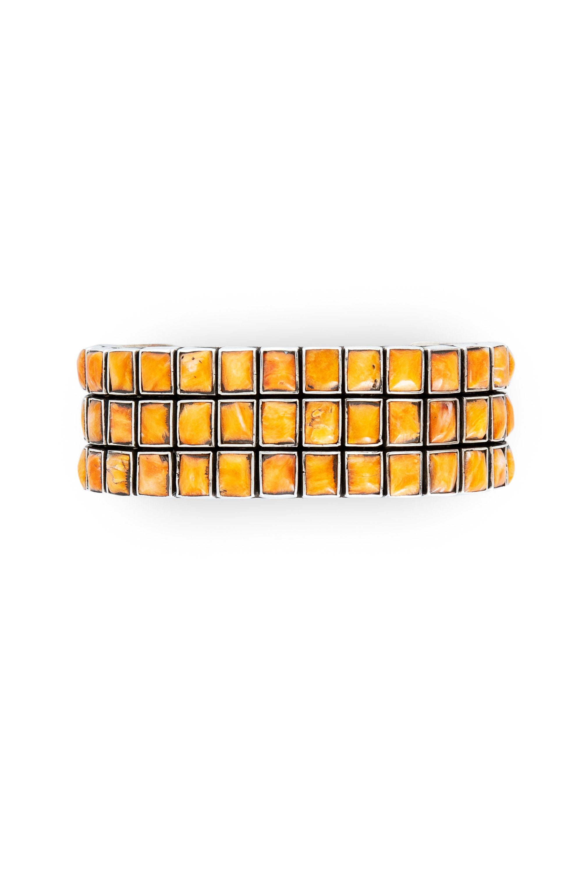 Cuff, Orange Spiny Oyster, 3 Row, Federico, Contemporary, 2688