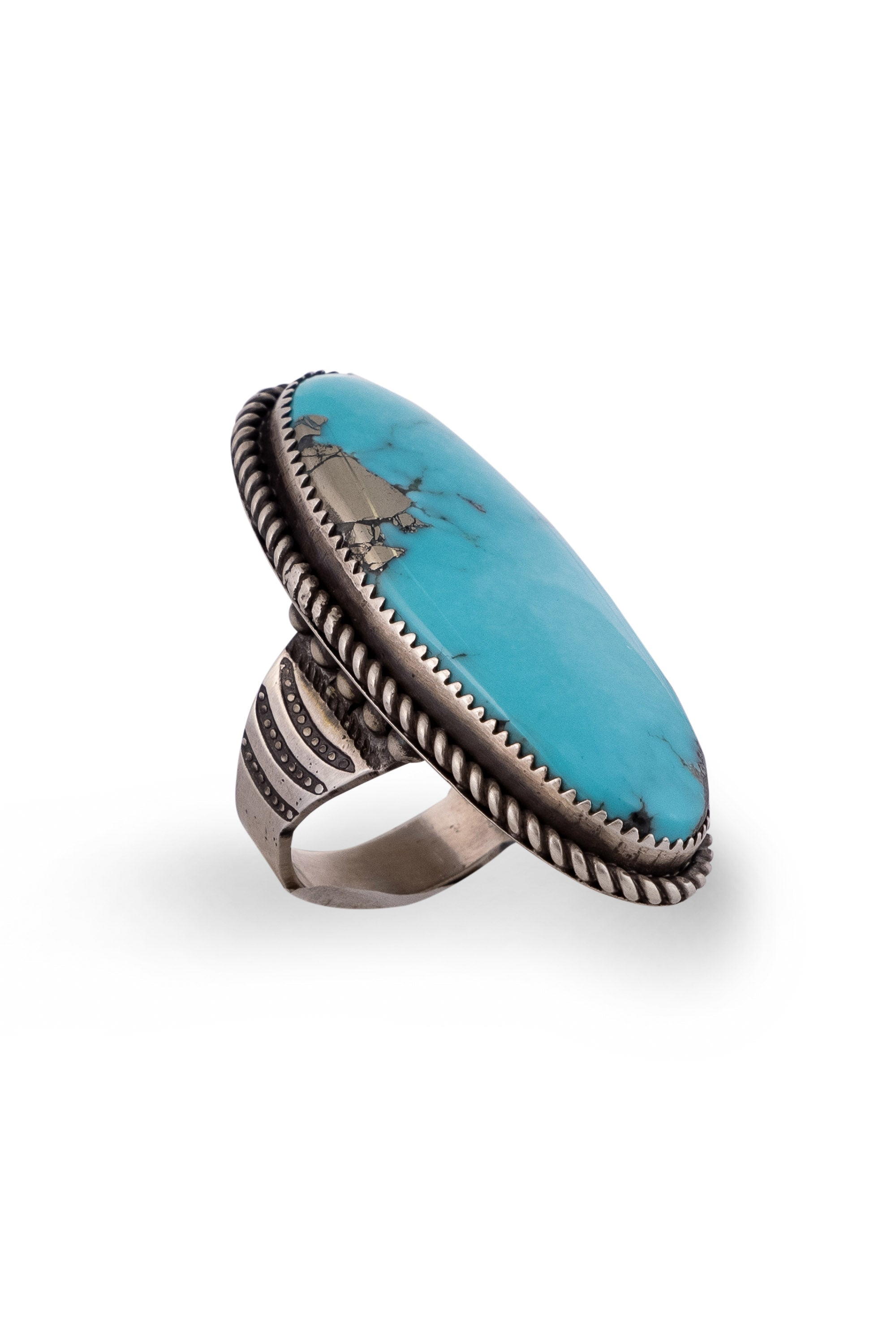 Ring, Turquoise, Single Stone, Castle Dome, Hallmark, 682