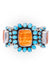 Cuff, Cluster, Cameo, Orange Spiny Oyster & Turquoise, Federico, Contemporary, 2731
